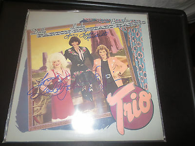 Dolly Parton Linda Ronstadt and Emmylou harris signed Trio  lp