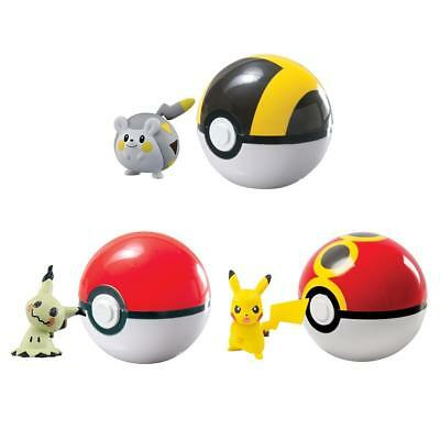 Pokemon Pokeball Pikachu Mimigma Togedemaru Ball Bälle Pokeball