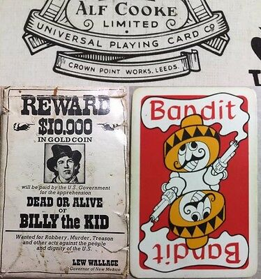 Wild West Billy the Kid Dead or Alive Bandit Wanted Poster Playing Cards Deck