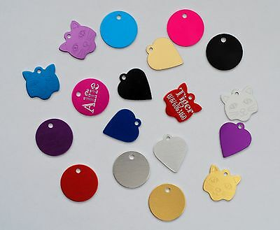 Personalised Pet ID TAG For Cats And Kittens Deep Engraving,Engraved Free