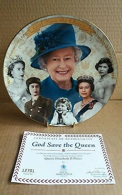 "Royal Worcester Commemorative Plate ""God Save The Queen"""