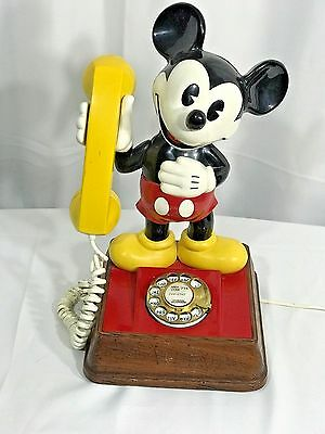 THE Mickey Mouse Phone 1976 VTG American Rotary Telecommunication Corp DISNEY