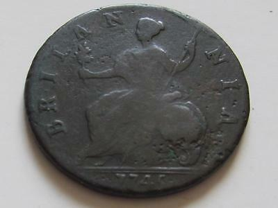 George II Half-Penny dated 1745 - Good filler/collectable coin