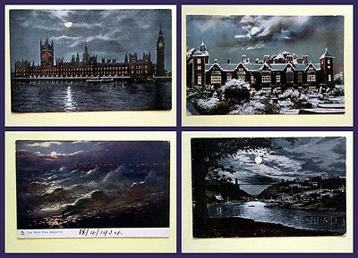Moonlight postcards - early 20th century