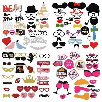Photo Booth Props Kit Moustache Wedding Hen Party Girls Night Game Accessories