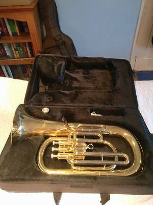 Full Size Brass Euphonium, Mirage HSD732, with Case and Mouthpiece