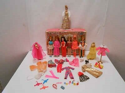 Vintage Topper Dawn Doll Lot Case Clothing Shoes & Accessories
