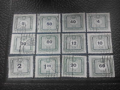 Mixed LOT Of Numbered Stamps Magyar Posta Hungary 1903 1953