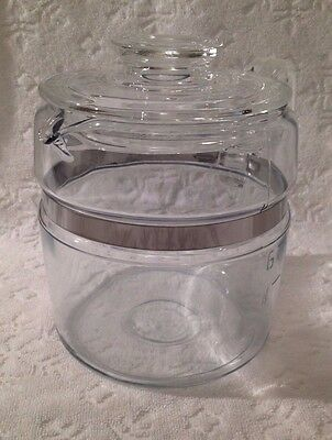 Vintage PYREX FLAMEWARE; 6 Cup Coffee-Percolator Pot & Lid ONLY;  7756-B, C I-4