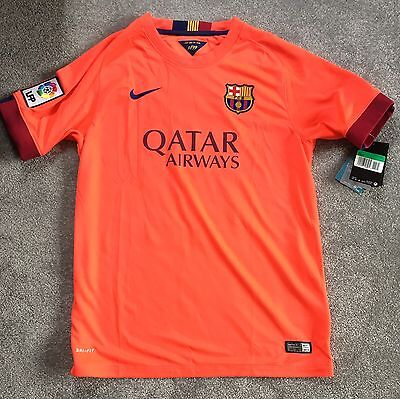 Bnwt Official Licensed Fc Barcelona Messi Replica Away Jersey Shirt Size Boys Xl