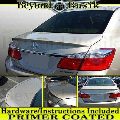 #5353M PRIMER FACTORY STYLE LIP SPOILER  fits the 2013-2017 HONDA ACCORD 4DR