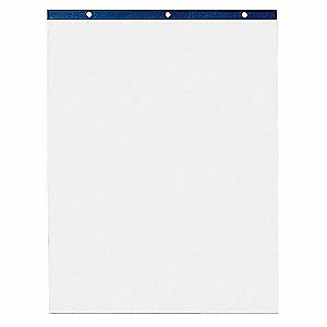 ABILITY ONE Easel Pad,Self-Stick,Wh,25 x 30 in.,PK2, 7530-01-393-0104, White