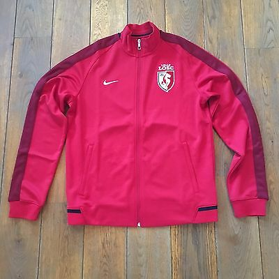 Veste Football Nike LOSC LILLE N98 Auth Trk Jkt Rouge Taille XL Neuf
