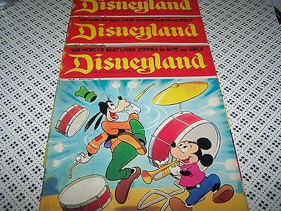 DISNEYLAND Vintage 1971 Disney Magazine No 73/76/77