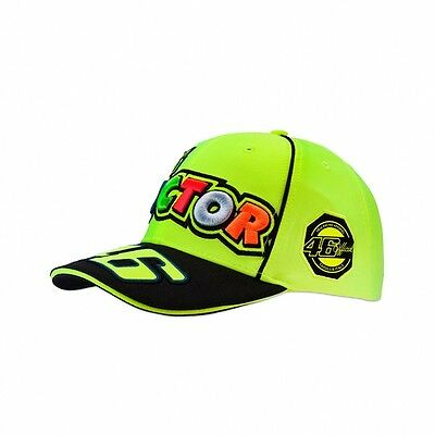 2017 OFFICIAL Moto GP VR46 Valentino Rossi 46 The Doctor Cap Hat Yellow – NEW