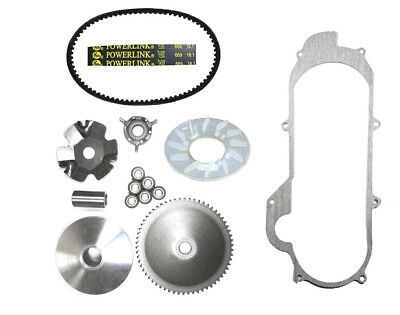 Tao Tao ATM50A1 50cc Scooter Front Clutch Variator, Powerlink Belt & Gasket