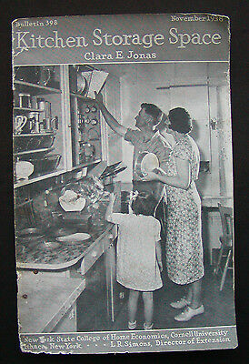 Cornell Bulletin for Homemakers #398 Kitchen Storage Space 1938 by Clara Jonas