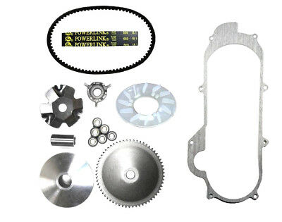 Tao Tao CY50A VIP 50cc Scooter Front Clutch Variator, Powerlink Belt & Gasket