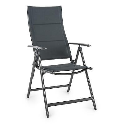 Garden Chair Patio Balcony Bbq Treking Home Folding Aluminium Weatherproof Grey