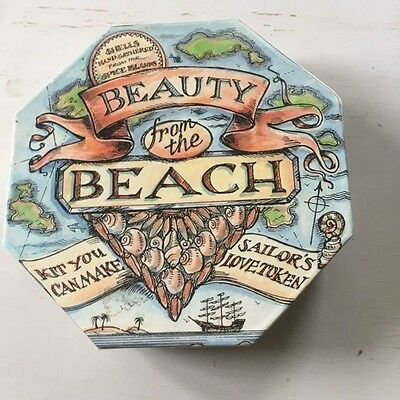 Beauty From The Beach Box Of Shells And Beads For Craft Etc New