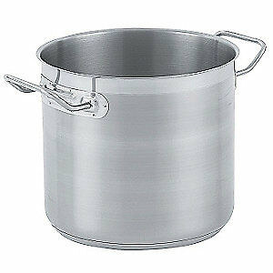 VOLLRATH Stainless Steel Stock Pot,27 Qt., 3506
