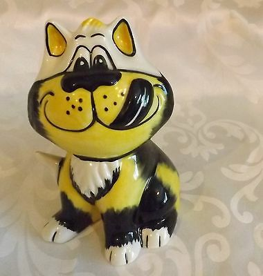 Very Rare Lorna Bailey Cat  DELICIOUS Yellow Colourway 6/6 Signed in Blue
