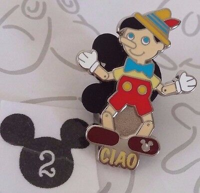 Pinocchio It's a Small World Ciao Hidden Mickey 2014 Disney Pin Wooden Puppet
