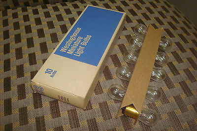 Vintage Nos Genuine Westinghouse (Box Of10) 1004 Interior Light Bulb Made In Usa
