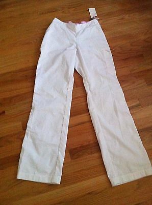 KOI Kathy Petersen MARISSA White Scrub Pants S Small Tall NEW