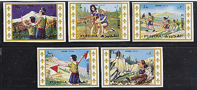 Fujeira, Scouting, Girl Guides - Scouts,  Mnh Imperf. Stamps, Lot - 6
