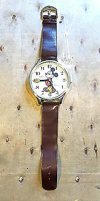 Vintage Mickey Mouse Wrist Watch Wall Clock Tested Working!
