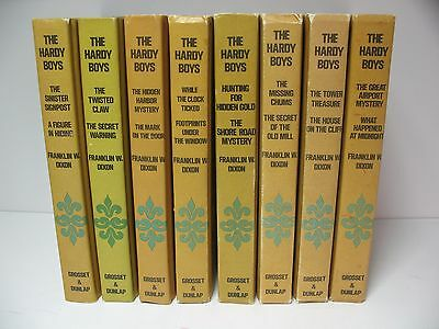 Lot of 8 Rare Antique Vintage Hardy Boys Double Books Franklin Dixon Mystery