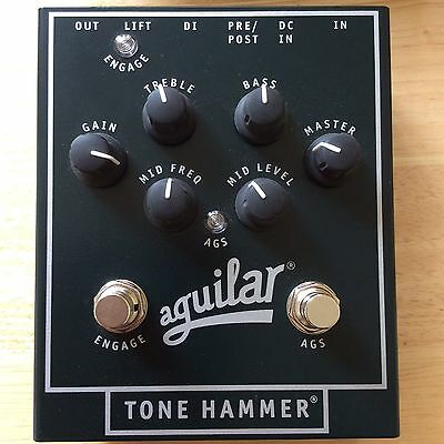 Aguilar Tone Hammer Bass Preamp DI With Aguilar Power Supply