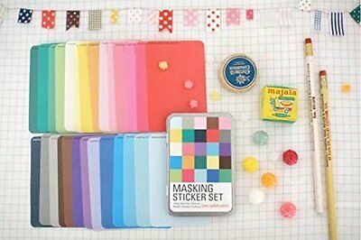 Masking Sticker Solid Set 27 Sheets Tape Deco Washi Scrapbooking