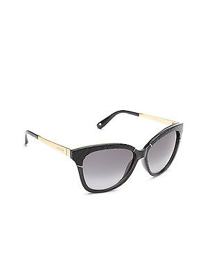 9c560421128 Jimmy Choo INES S EQEHD Sunglasses Black Gold Frame Gray Gradient Lenses  58mm