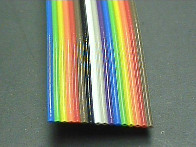 "2 Feet, 16 Conductor Ribbon Cable, 28(7x36) AWG, 0.05"" (1.27mm) Pitch Spacing"