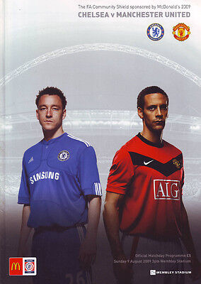 Chelsea v Manchester United 9/8/09 F.A. Charity Shield