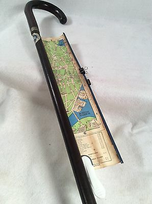 """35"""" Vintage Cane Boston Pull Out Map"""
