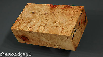 x1631   - Spalted  BOX ELDER BURL - Turning/Craftwood - Stabilized