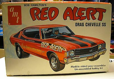 Amt - Red Alert - Bob Hamilton's Drag Chevelle Ss - As Is - T415 - Rare Kit