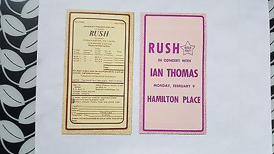 RUSH 1976 & 1979 Concert CKOC Chart with mail-only form for tickets, near mint
