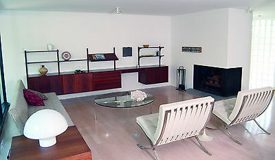 Mid-Century Modern, Poul Cadovius, Rosewood Wall System and separate Desk/Vanity