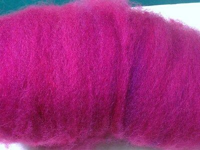 raspberry pink, red, ROVING, carded sheep wool,fiber,needle felting spinning