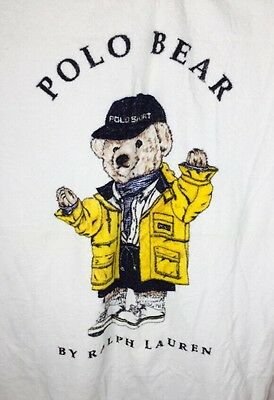 Vtg Polo Ralph Lauren Polo Bear Towel Rain Jacket Polo Sport
