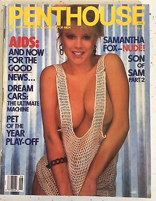 Penthouse Rare Vintage Samantha Fox Collectible Magazine June 1987 Son of Sam