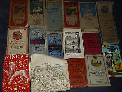 Large Job Lot Of Vintage Road Maps And Travel Guide Books Etc