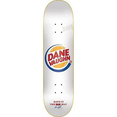 "DGK Skateboard Deck Dane Vaughn 8"" Cease Desist Dirty Ghetto Kids FREE GRIP"