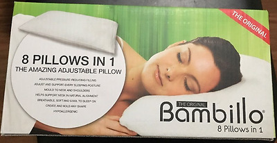 GENUINE Bamboo Bambillo adjustrable & Comfie Pillow 8 In 1AS SEEN ON TV RRP $229