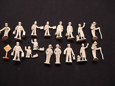 Vintage O Guage Rubber Railroad People Figures 1950s