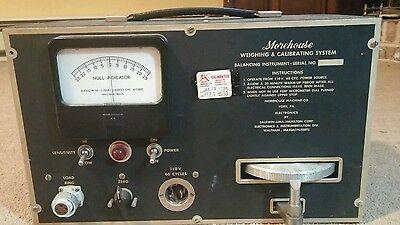 Morehouse Weighing and Calibrating System Balancing Instrument